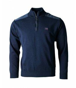 PAUL & SHARK COP1028 - 050 pullover met rits donkerblauw