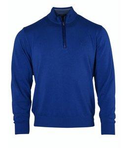 PAUL & SHARK 0019 - 433 pullover met rits kobalt blauw