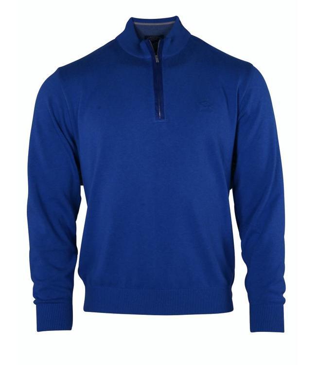 PAUL & SHARK Blauwe pullover - ritssluiting van Paul & Shark - 100% katoen - P16P0019