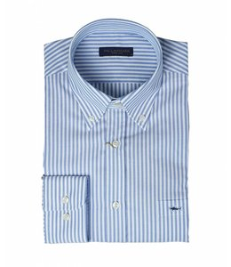 PAUL & SHARK COP3006 - 002 overhemd lange mouw wit/lichtblauw
