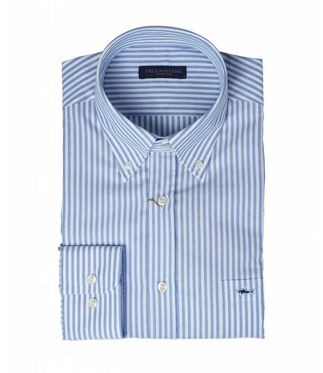 PAUL & SHARK COP3006-002 overhemd lichtblauw met lange mouwen