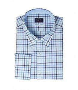 PAUL & SHARK 3262 - 300 overhemd lange mouw wit/blauw