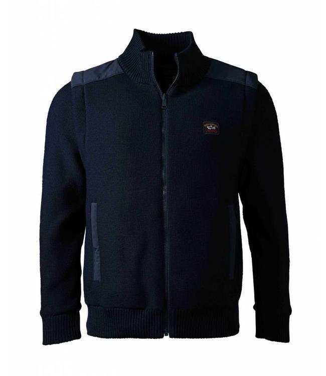 PAUL & SHARK C0P1037-050 vest/bodywarmer donkerblauw met afneembare lange mouwen