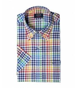 PAUL & SHARK 3181 - 040  overhemd korte mouw multicolour