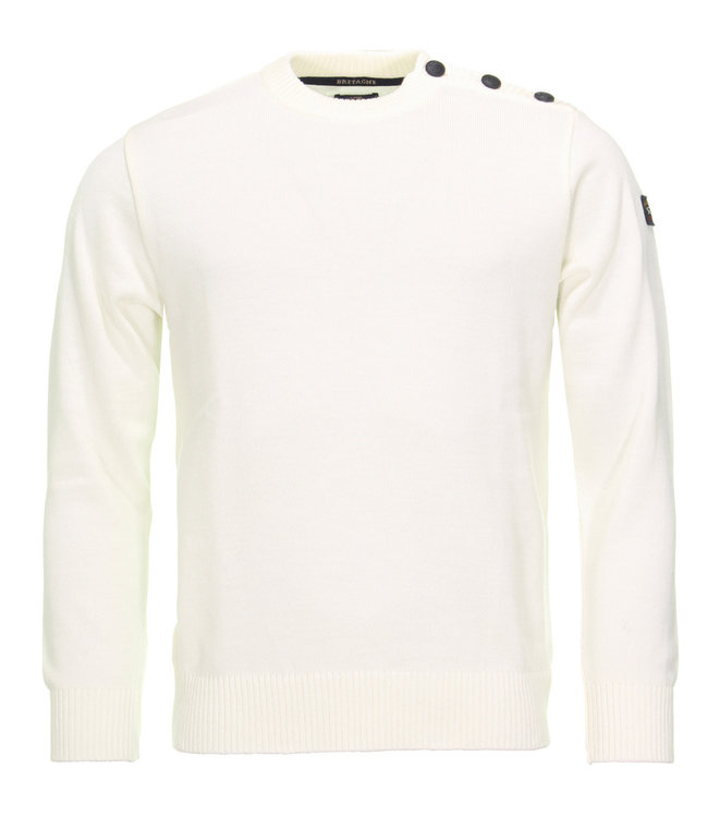 PAUL & SHARK C0P1032 - 469 pullover ronde hals off-white