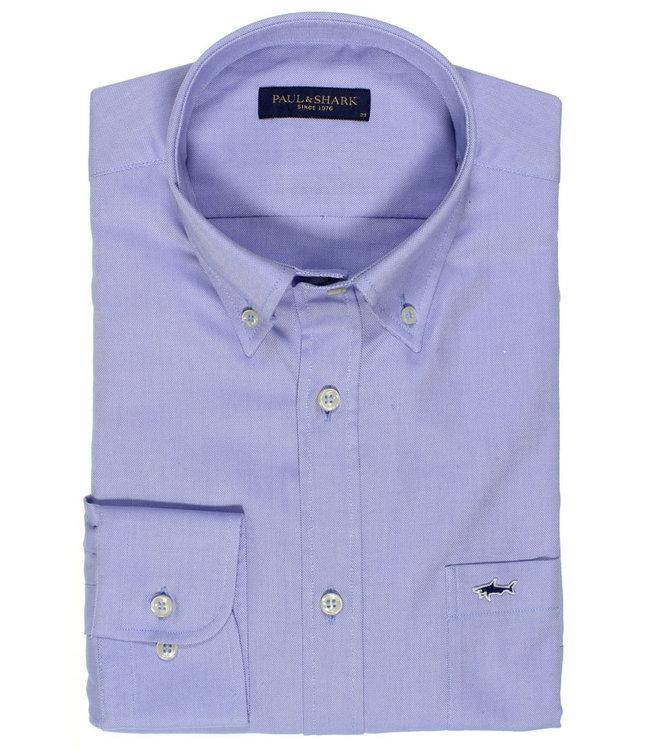 PAUL & SHARK C0P3000-014 overhemd lange mouw lichtblauw