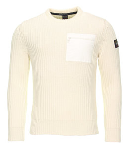 PAUL & SHARK 1030 - 469 pullover ronde hals off-white
