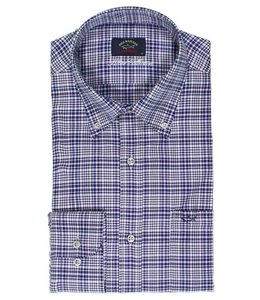 PAUL & SHARK 3105 - 015 overhemd lange mouw blauw/wit