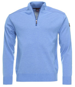 PAUL & SHARK COP1028-748 pullover met rits en openstaande kraag blauw