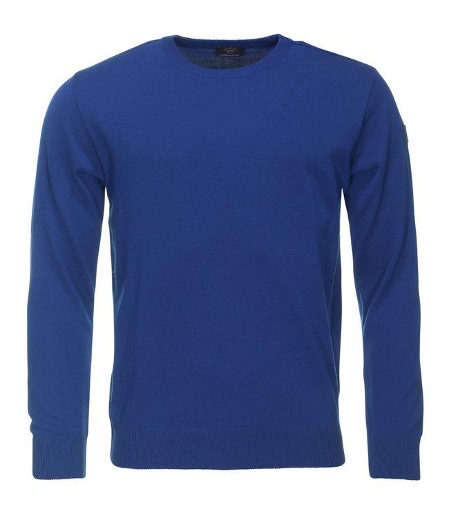 PAUL & SHARK COP1040 - 573 pullover ronde hals blauw lange mouwen