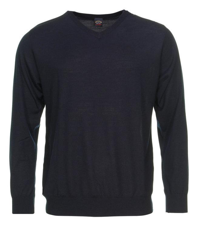 PAUL & SHARK COP1048-050 pullover v-hals donkerblauw met lange mouwen