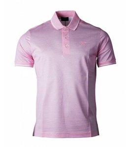 PAUL & SHARK 1217 - 356 Polo korte mouw roze getipte boorden