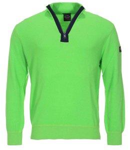 PAUL & SHARK 1648D - 205 pullover met rits groen