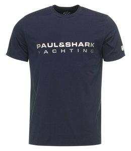 PAUL & SHARK E20P1001 - 013 T-shirt donkerblauw met print