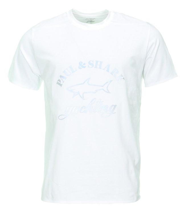 PAUL & SHARK 1000 - 013 T-shirt wit met logoprint