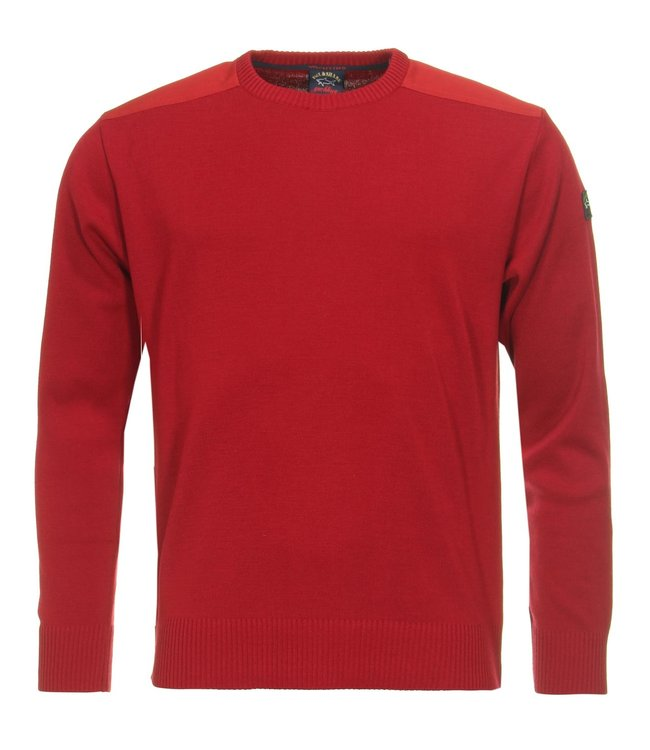 PAUL & SHARK C0P1026-813 pullover ronde hals rood