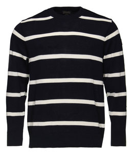 PAUL & SHARK COP1031 - 573 pullover ronde hals donkerblauw/wit