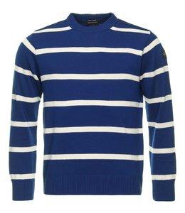 PAUL & SHARK COP1031 - 584 pullover ronde hals blauw/wit gestreept