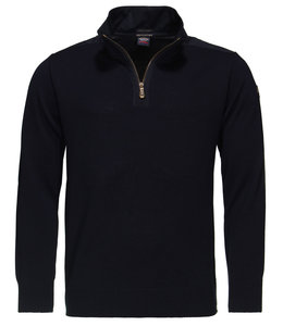 PAUL & SHARK COP1033 - 050 pullover met rits donkerblauw