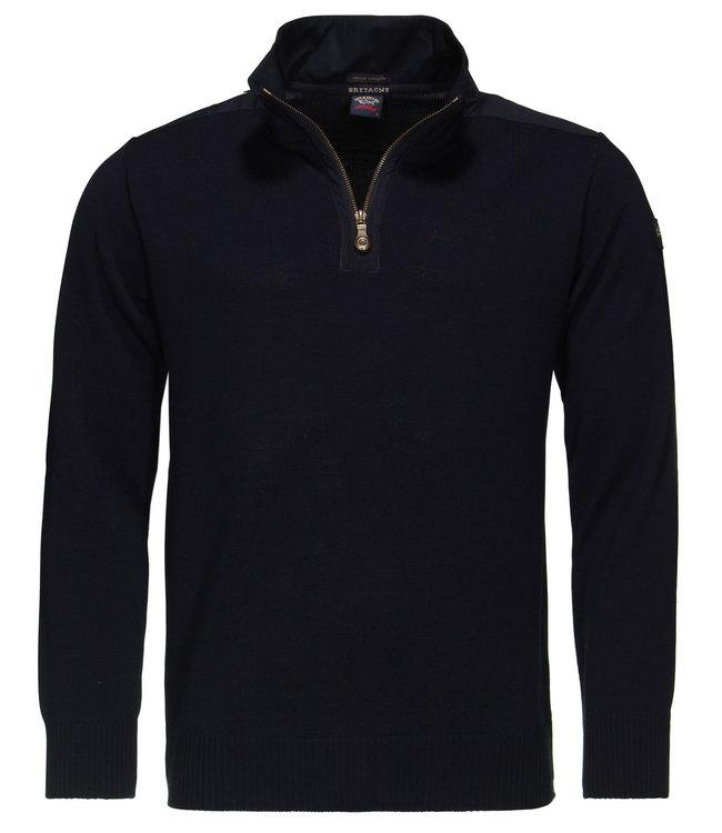 PAUL & SHARK C0P1033 - 050 pullover met ritssluiting donkerblauw