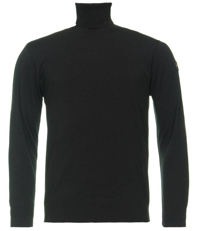 PAUL & SHARK C0P1042-011 pullover col zwart met lange mouwen