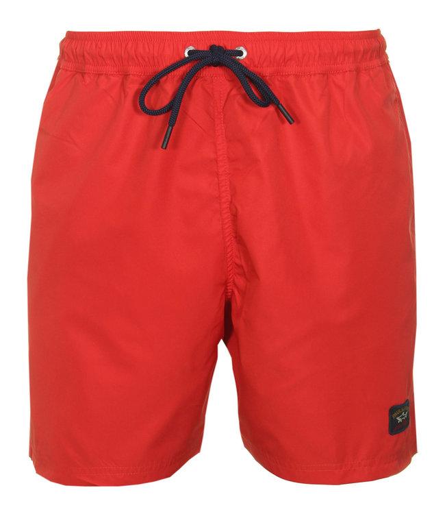 PAUL & SHARK C0P5001 - 577 zwembroek rood met blauw koord