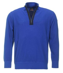 PAUL & SHARK 1648D - 408 pullover met rits kobalt blauw
