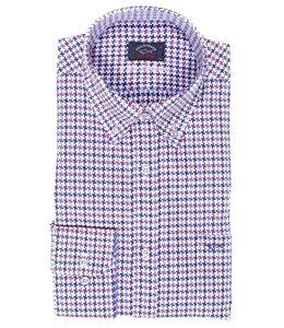 PAUL & SHARK 3111 - 001 overhemd lange mouw wit-rood-blauw