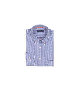 PAUL & SHARK COP3008 - 017 overhemd ruit blauw/wit