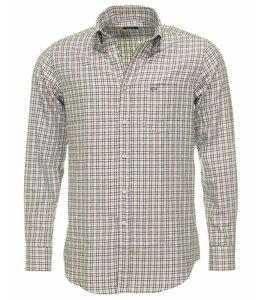 PAUL & SHARK 3114 - 003 overhemd lange mouw offwhite-blauw-bruin
