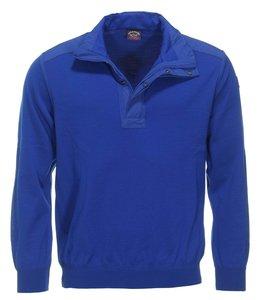 PAUL & SHARK 1140 - 408 pull polo met rits kobalt blauw