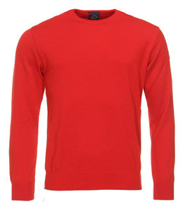 PAUL & SHARK COP1040 - 577  pullover ronde hals rood