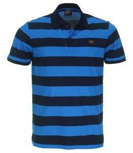 PAUL & SHARK Poloshirt blauw gestreept COP1012 - 144