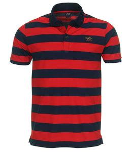 PAUL & SHARK 1012 - 142 poloshirt blauw/rood