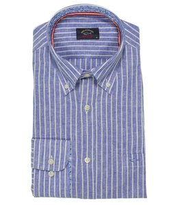 PAUL & SHARK 21413320 - 001 overhemd lange mouw blauw/wit