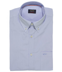 PAUL & SHARK 3003 - 477 overhemd korte mouw blauw