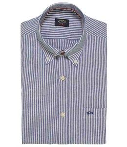 PAUL & SHARK 21413408 - 003 overhemd/mondkapje lange mouw blauw/wit