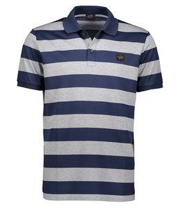 PAUL & SHARK 1012 - 147 poloshirt blauw/grijs