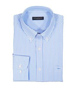 PAUL & SHARK 3005 - 013 overhemd lange mouw blauw/wit