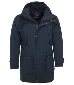 PAUL & SHARK Donkerblauwe lange jas 11312024-050