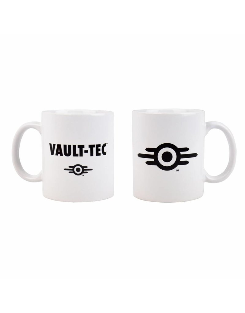 Fallout Tasse Vault-Tec Logo White
