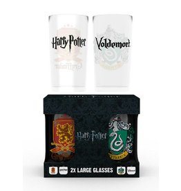 Harry Potter Glass Crests Large Twin Pack