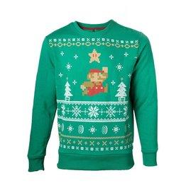 Nintendo Christmas Sweater Jumping Mario