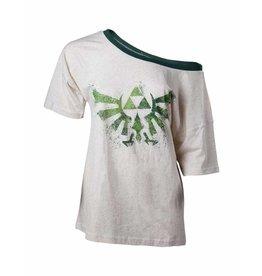 The Legend of Zelda Women Off Shoulder T-Shirt Triforce Logo