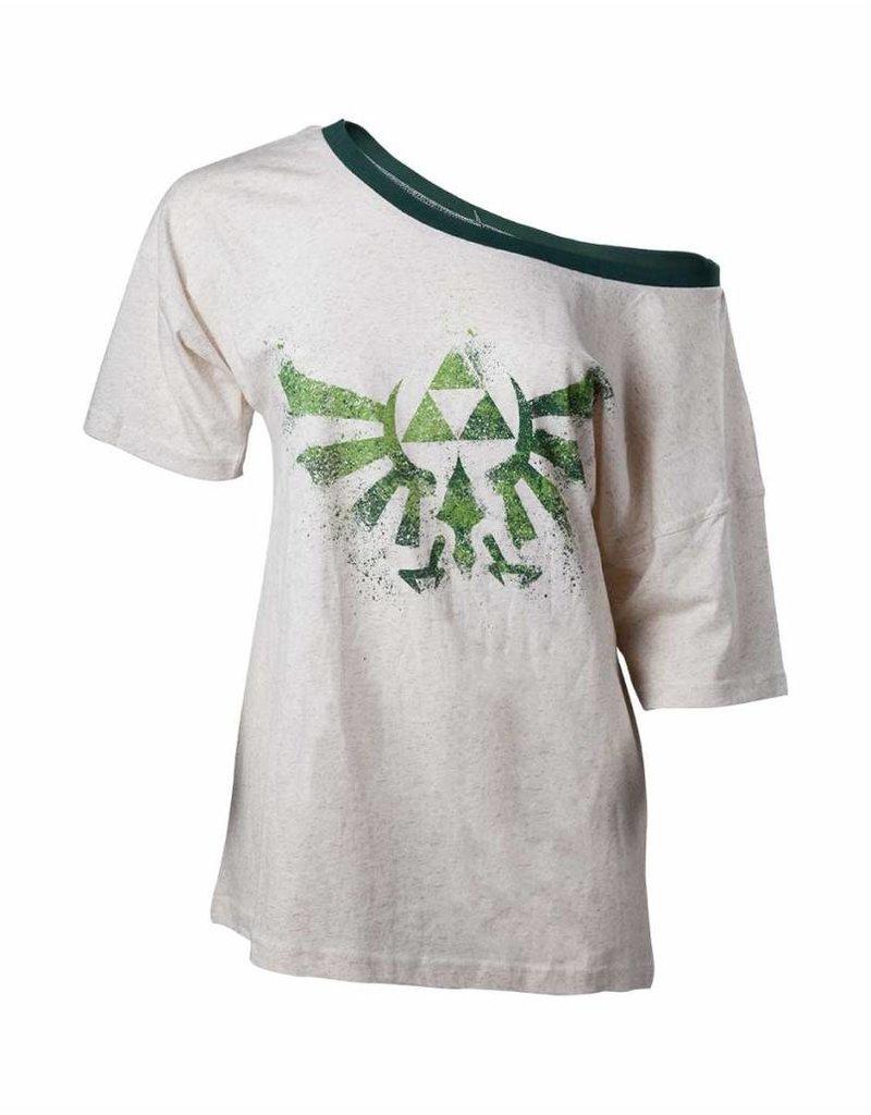 7fbe7dd1 The legend of Zelda - Women Off Shoulder T-Shirt Triforce Logo ...