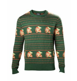 The Legend of Zelda Christmas Sweater Pixel Link