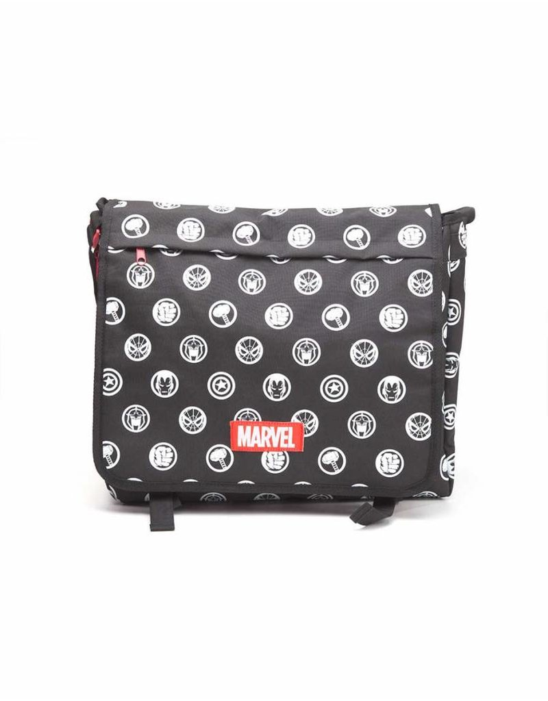 Marvel Schultertasche All Over Helden Symbole