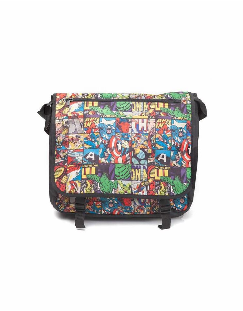 Marvel Schultertasche All Over Comic Style