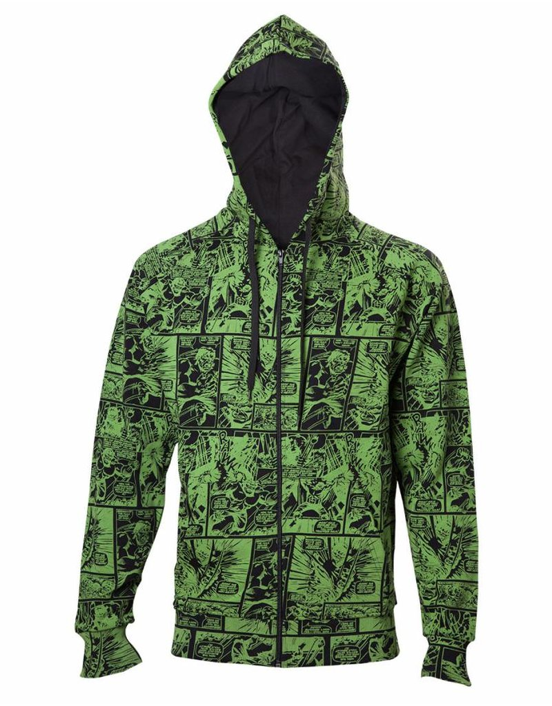 Marvel Zip-Hoodie Hulk Comic Book Pattern