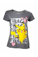 Pokémon Damen T-Shirt Pikachu Love